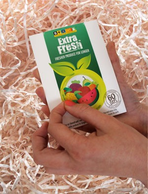 ExtraFresh, peel off sticker to activate
