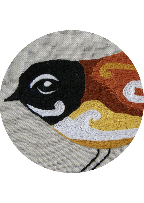 Fantail embroidery emailed pattern thestitchsmith