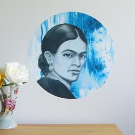 Frida Kahlo dot wall decal