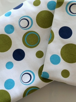 Green and Blue Spotty Single Duvet Set