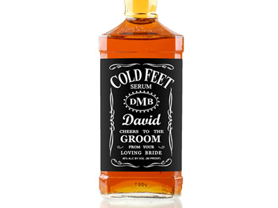Grooms Gift Whiskey Label 01