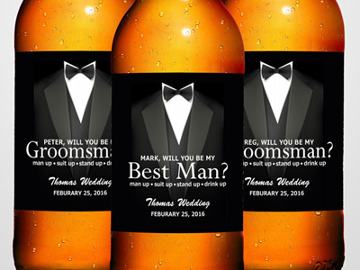 Groomsman, Best Man Beer Labels 01