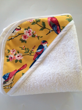 Hooded Towel - Mustard Swallow
