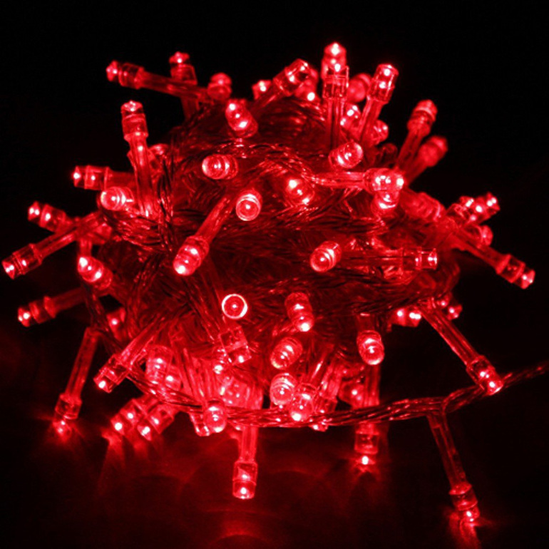 LED Fairy Lights 10m 100 - Red - Party Lights Company