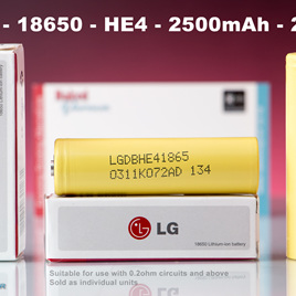 LG - 18650 - HE4 - 2500mAh - 20A