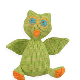 Knitted Rattle -  Owl
