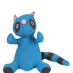 Knitted Rattle -  Racoon