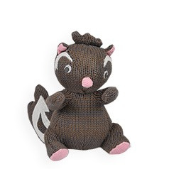 Knitted Rattle - Skunk