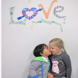 Love wall decal  Mini Mural