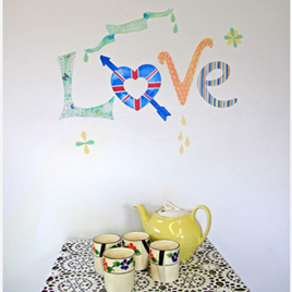 Love wall decal  StickyTiny