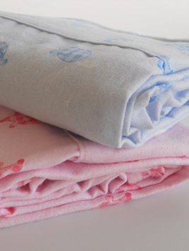 Moses Basket Flannelette Sheets - Mice PINK ONLY