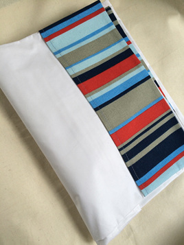 Nautical Stripe Cot Sheet Set