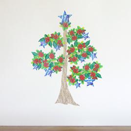 Pohutukawa Christmas tree wall decal StickyTiny