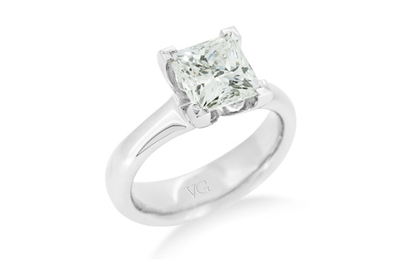 Princess Cut Solitaire Diamond Ring The Village Goldsmith