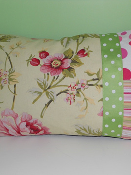 Rambling Rose Cushion with Feather Inner