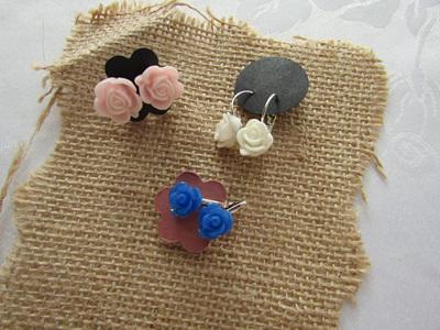 Resin Flower Earrings
