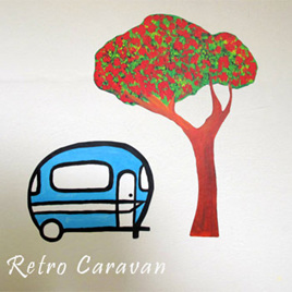 Retro Caravan wall decal  StickyTiny