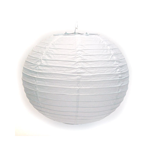 Paper Lantern String Lights Nz : Round Paper Lanterns 30cm - White - Party Lights Company