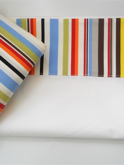 Sea Stripe Cot Sheet Set
