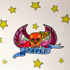 Skull Door Tattoo wall decal