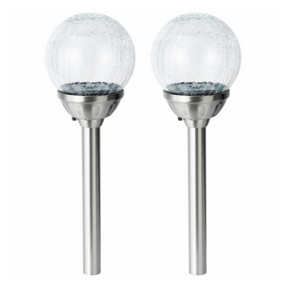 Portfolio Landscape Lighting Stakes : Smart garden solar crackle globe stake lights colour