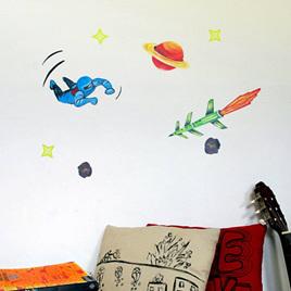 Spaceman Blue wall decal  StickyTiny