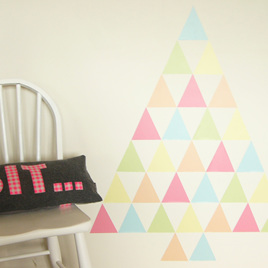 Summer Sorbet triangles wall decal