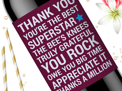 Thank You Wine Labels 02