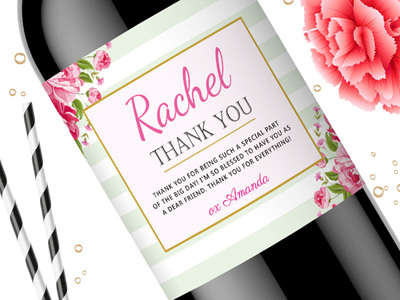 Thank You Wine Labels 04 Hostess Gift