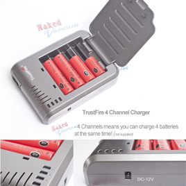 TrustFire 4 Channel Charger