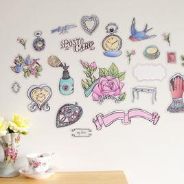 Vintage Correspondence wall decal  Mini Mural