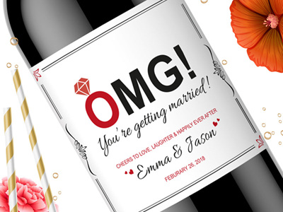 Wedding Engagement Labels 01