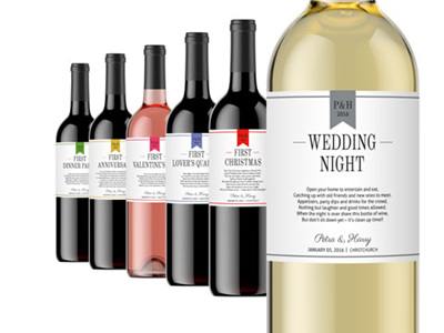 Wedding Milestone Wine Labels 01