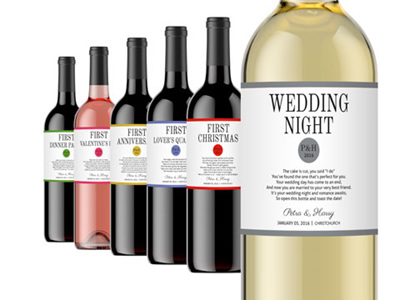 Wedding Milestone Wine Labels 03