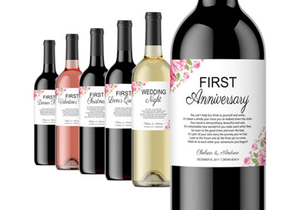 Wedding Milestone Wine Labels 04