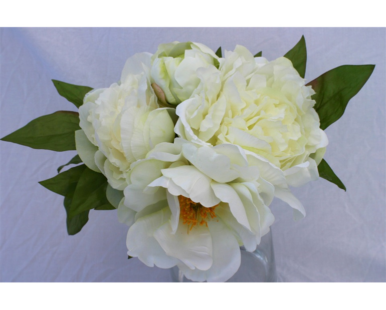 White/green Peony Bouquet