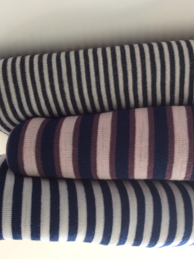 Winter Stripey Ribbed Merino Wraps