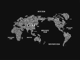WORD WORLD MAP