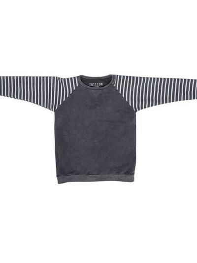 Zuttion - Stripe Sleeves Raglan Sweater