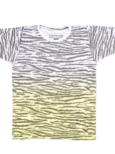 Zuttion - Zebra Gradient Round Neck T